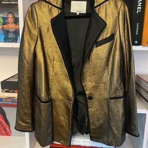 3.1 Phillip Lim Gold Tuxedo Blazer